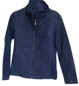 East 5th Essentials Suede Leather Chich Blue Leather Jacket
