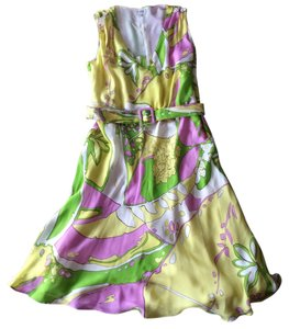 Louis Feraud short dress Multi-color Silk Vintage on Tradesy