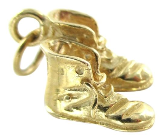 Other 14K YELLOW GOLD PENDANT CHARM SNEAKER VINTAGE SHOES BOOTS SOLID 3.8 GRAMS JEWEL