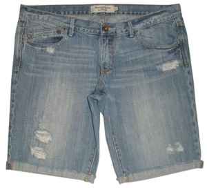 Abercrombie & Fitch Excellent Condition Cuffed Shorts Blue