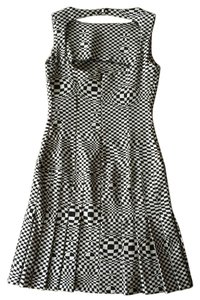 Flavio Castellani short dress Black and White Checkered Vintage Cut-out on Tradesy