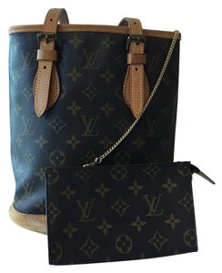 Louis Vuitton Marais Bucket Pm Coated Canvas Shoulder Bag