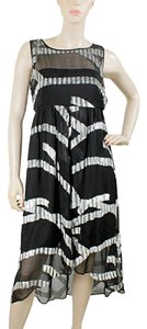 Black, Grey, White Maxi Dress by Marc by Marc Jacobs Gown Sparkle Empire Waist