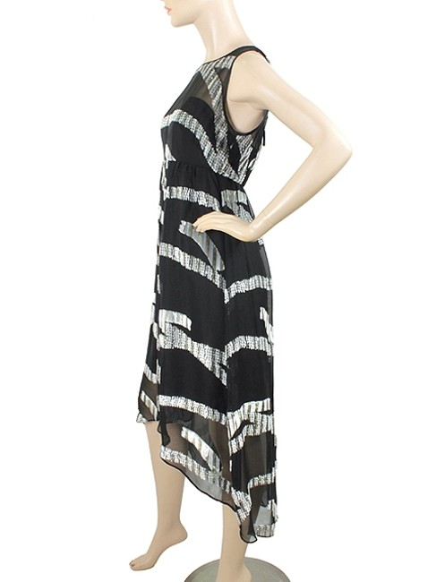 Black, Grey, White Maxi Dress by Marc by Marc Jacobs Gown Sparkle Empire Waist Sheer Maxi A-line Chiffon Silk