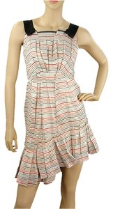 Marc Jacobs short dress Pink, Black, White, Blue Striped Pinstripe Ruffle on Tradesy
