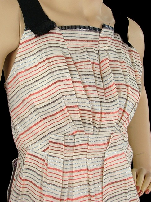 Marc Jacobs short dress Pink, Black, White, Blue Striped Pinstripe Ruffle Metallic Pleated Summer Spring Party Sparkle on Tradesy