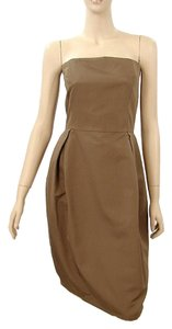 Max Mara Strapless Evening Party Sleeveless Empire Waist Bodycon Dress