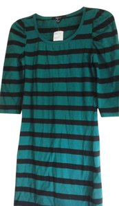 Forever 21 short dress Green & black striped Date Night on Tradesy