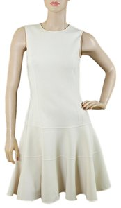 Michael Kors Drop Waist Crepe Cream Spring Summer Sleeveless Dress