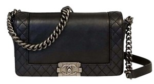Chanel Cambon Woc Le Boy Caviar Graffiti Cross Body Bag