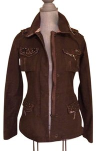 Miss Me Small Brown Womens Jean Jacket