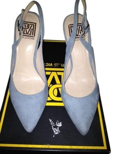 Pour La Victoire Powder Blue gray Platforms