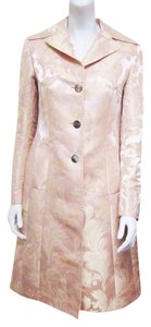 Dolce&Gabbana Dolce & Gabbana Brocade Textured Floral Tassels Belted Size 4 Size Small Trench Coat