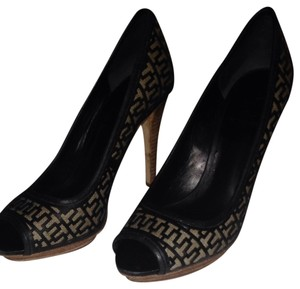 Tory Burch Black @ Wood Pumps