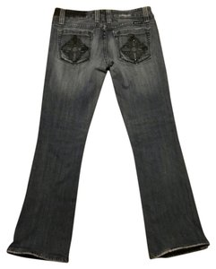 Miss Me Dark Wash Embellished Straight Leg Jeans-Dark Rinse
