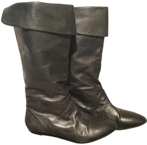 Dollhouse Slouch Winter Leather Black Boots
