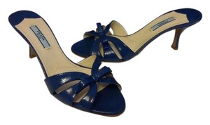 Prada Size 37 Made In Italy Blue Sandals