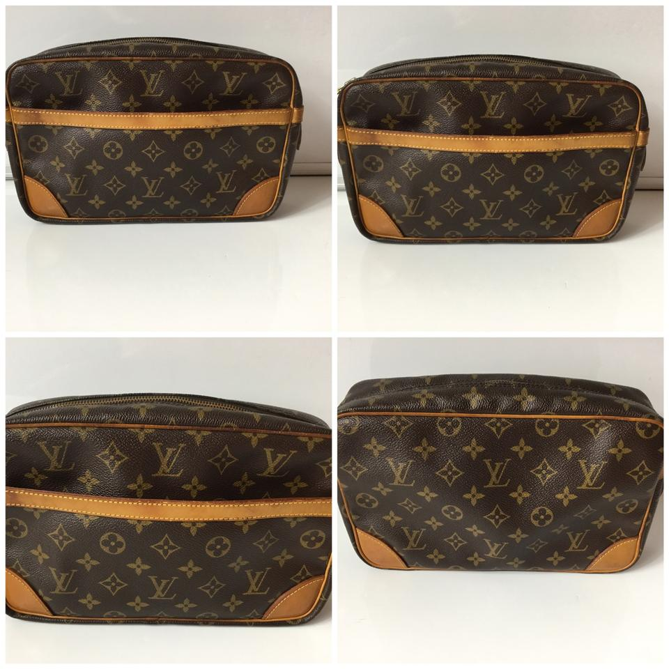 louis vuitton monogram compiegne 1989 vintage 28 clutch cosmetic bag tradesy. Black Bedroom Furniture Sets. Home Design Ideas