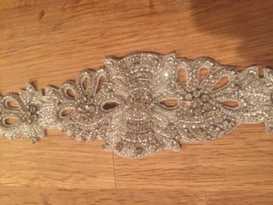 BHLDN Bhldn Ajoure Silver Fitted Belt - Small - Good As New