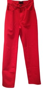 Versace Straight Pants Red
