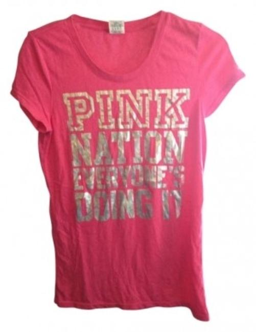 Preload https://item2.tradesy.com/images/victoria-s-secret-pink-tee-shirt-size-8-m-10721-0-0.jpg?width=400&height=650