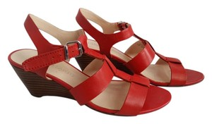 Franco Sarto Orange, Coral Wedges