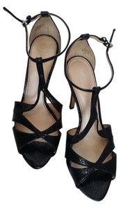 Marc Fisher Sparkly Heels Silver Party Formal Black Snake Skin Platforms