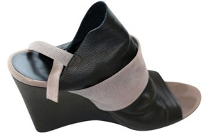 Balenciaga Black and Grey Wedges