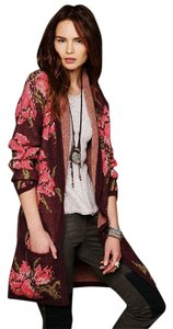 Free People Flower Floral Oversized Rare Cardigan
