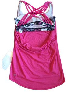 Lululemon New With Tags Lululemon Wild Tank Pink Butterfly Size 6
