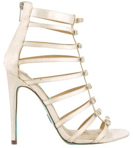 Betsey Johnson Wedding Something Blue Ivory satin Platforms