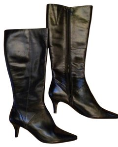 Bandolino Leather Tall Black Boots