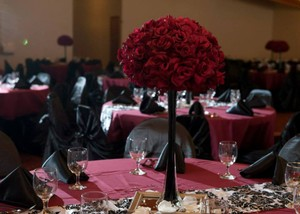 H&M Deep Red Custom Listing For Elite Party (1) Reception Decoration