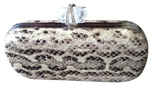 Marchesa Snakeskin Crystal black and white Clutch