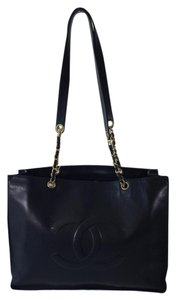 Chanel Leather Coco Tote Gm Travel Shoulder Bag