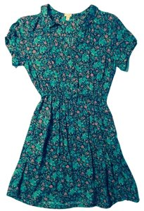 I Love H81 short dress Vibrant Floral on Tradesy