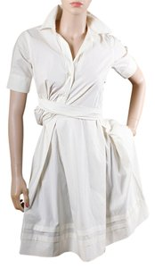 Moschino Draped Cotton Pleated Tie Dress
