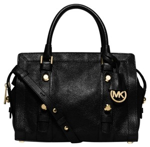 Michael Kors Collins Studded Satchel in Black