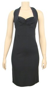 Moschino Halter Bodycon Evening Dress