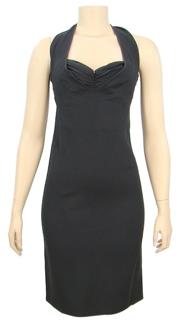 Preload https://item4.tradesy.com/images/moschino-black-stretch-rayon-halter-knee-length-cocktail-dress-size-6-s-1072308-0-0.jpg?width=400&height=650