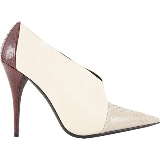 Narciso Rodriguez Snakeskin Leather cream/ecru/red Boots