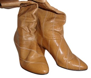 Vintage Leather Size 8 Tan Boots