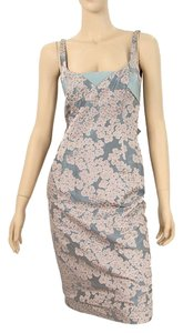 Moschino Jacquard Floral Sweetheart Dress