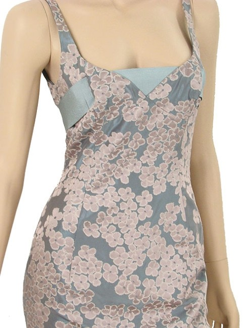 Moschino Jacquard Sweetheart Tie Dress