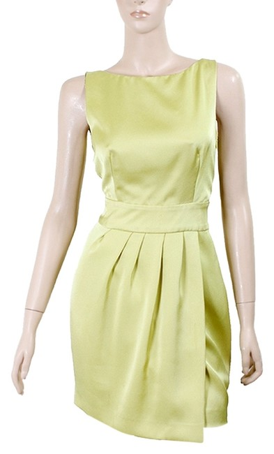 Preload https://item5.tradesy.com/images/moschino-green-yellow-cheap-and-chic-chartreuse-sleeveless-with-bow-above-knee-cocktail-dress-size-6-1072339-0-0.jpg?width=400&height=650