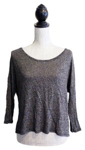 American Eagle Outfitters Marled T Shirt Gray