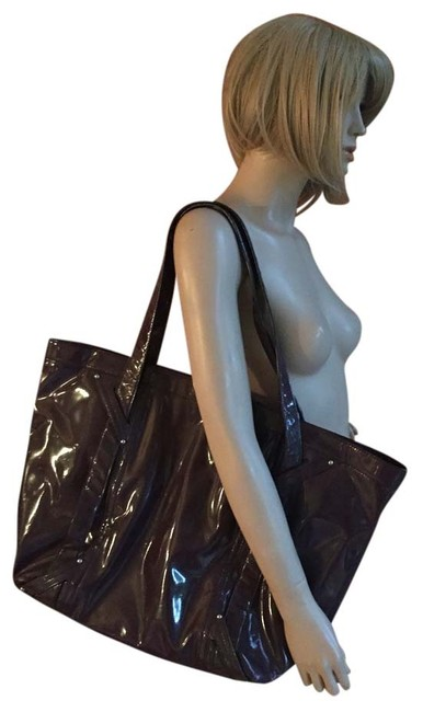Item - Dark Taupe Patent Leather Weekend/Travel Bag