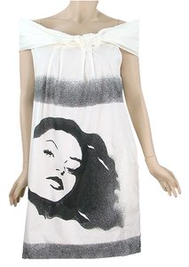 Moschino short dress Black, Grey, White Spring Print Summer on Tradesy