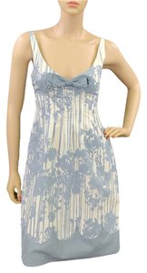 Moschino V-neck Floral Cotton Dress