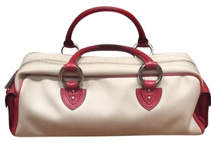 Marc Jacobs Satchel in Cream/red Leather